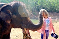 taking some time to meet some of the locals while in Kovalam India studying ashtanga yoga with David Garrigues