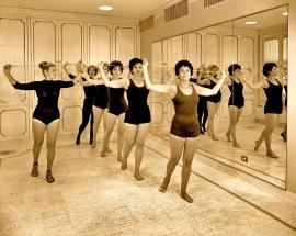 Helena Rubenstein gym class NYC 1961