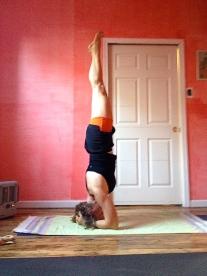 pink room headstand ashtanga yoga school of philadelphia 2013