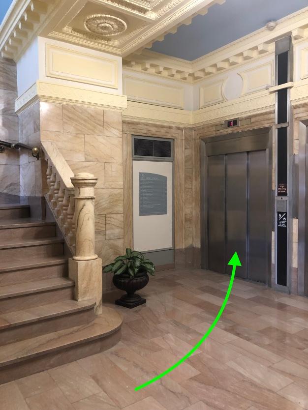 beautiful marble entrance