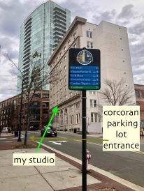 easy parking in Corcoran parking deck